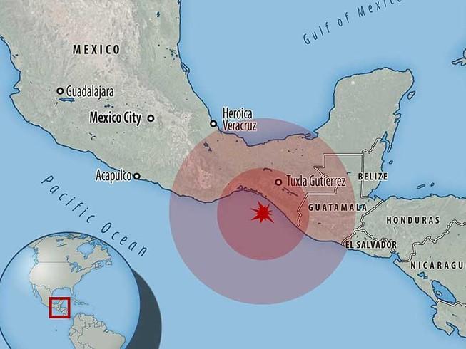 Động đất kinh hoàng vì Mexico kẹt giữa 5 mảng kiến tạo