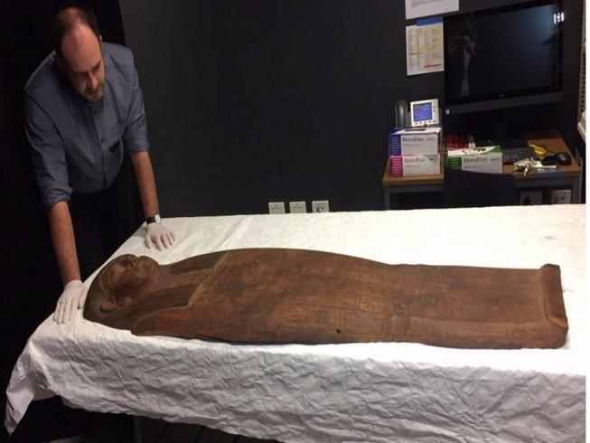 Phát hiện xác ướp 2.500 tuổi trong quan tài 'ngỡ rỗng'