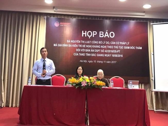 Bà Nguyễn Thị Luật tổ chức họp báo là sai quy định
