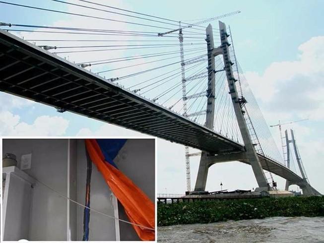 Phó Thủ tướng yêu cầu khắc phục vết nứt cầu Vàm Cống