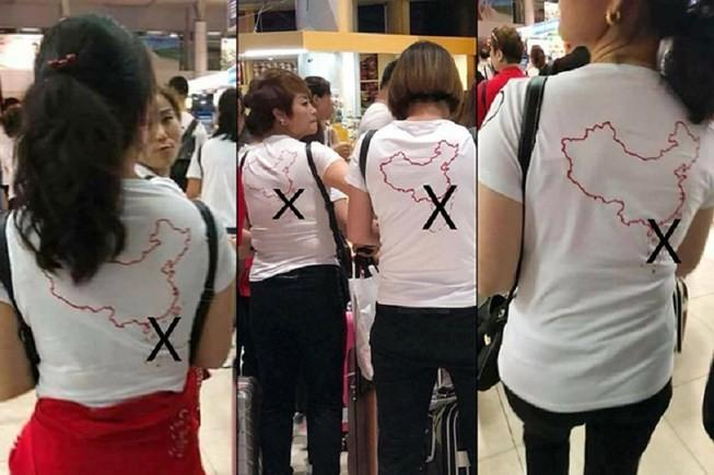 Khách Trung Quốc trưng băng rôn, khẩu hiệu có hình ảnh lạ