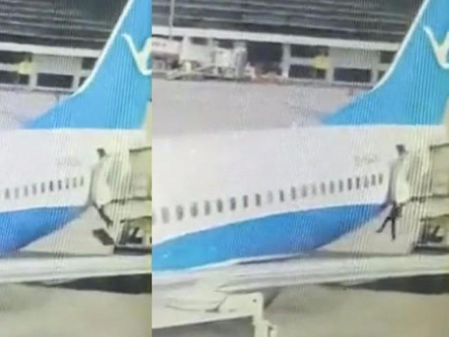 Tiếp viên Trung Quốc rơi khỏi máy bay sắp cất cánh