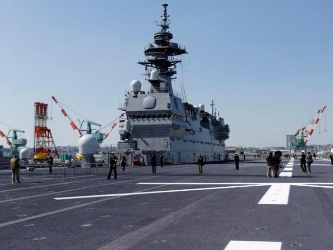 Lộ diện tàu sân bay mới đầy uy lực của Nhật Bản