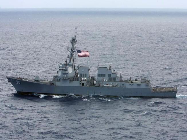 Mỹ điều tàu khu trục đến gần quần đảo Hoàng Sa