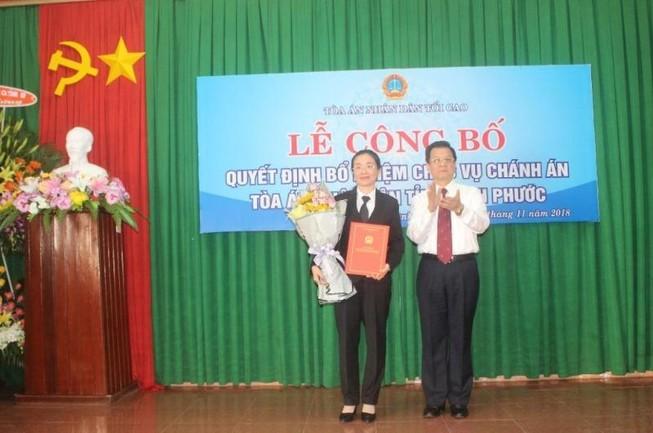 Bình Phước có tân Chánh án TAND tỉnh trẻ nhất nước