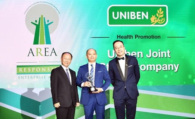 """UNIBEN nhận giải """"Doanh nghiệp Trách nhiệm châu Á"""" 2018"""