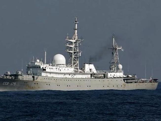Tàu do thám Nga xuất hiện gần bờ biển Mỹ
