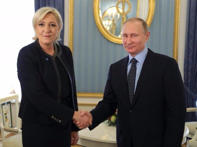Ứng viên cực hữu Pháp gặp ông Putin tại Nga