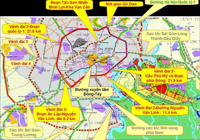 Áp lực hạ tầng giao thông siêu đô thị TP.HCM rất lớn