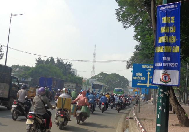 Thông thêm nhánh cầu vượt Nguyễn Kiệm - Nguyễn Thái Sơn