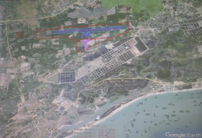 Hồ Tràm khảo sát lại vị trí sân bay tỉnh BR-VT chỉ