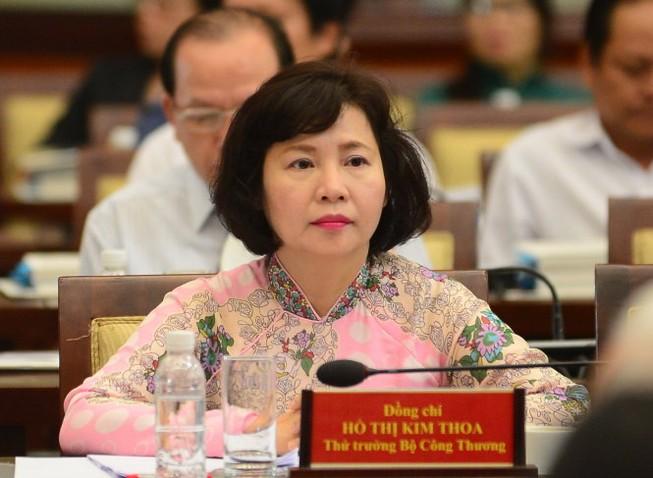 Miễn nhiệm Thứ trưởng Bộ Công Thương Hồ Thị Kim Thoa
