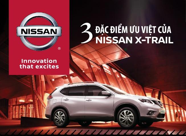 Ba điểm ưu việt của Nissan X-Trail