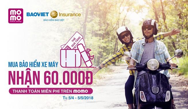 Bảo hiểm Bảo Việt bán bảo hiểm xe máy qua ví Momo
