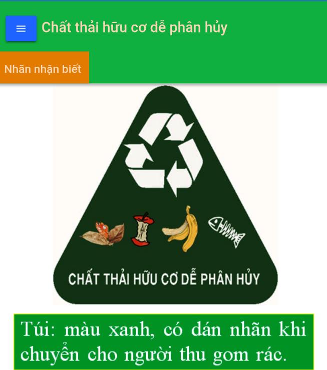 Phân loại rác thải ngay trên điện thoại thông minh