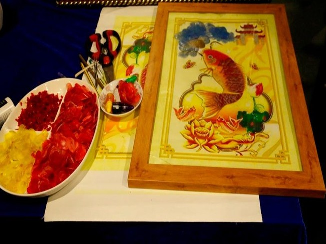 Dùng vảy cá làm tranh nghệ thuật - ý tưởng tuyệt vời