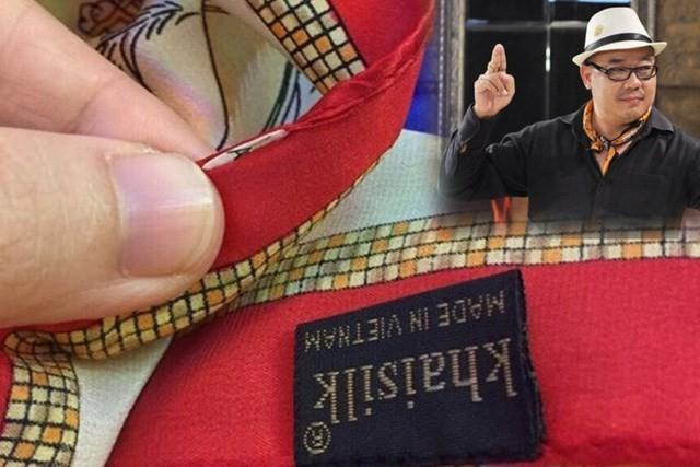 """Mới đây khách hàng phát hiện Khaisilk nhập khẩu khăn Trung Quốc dán mác """"made in Vietnam"""""""