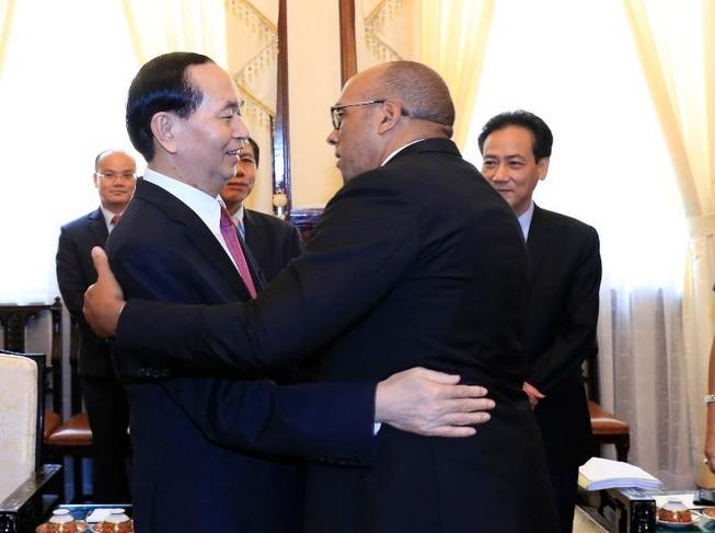 Chủ tịch nước Trần Đại Quang tiếp đại sứ Cuba sáng 28-8