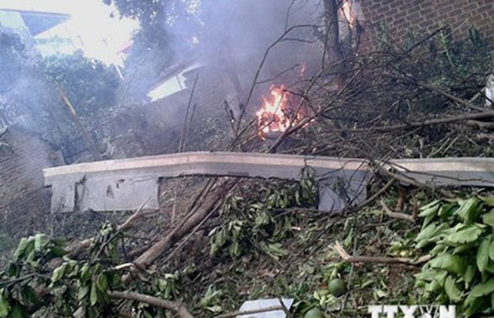 Trực thăng rơi ở Hà Nội: 18 chiến sĩ hy sinh