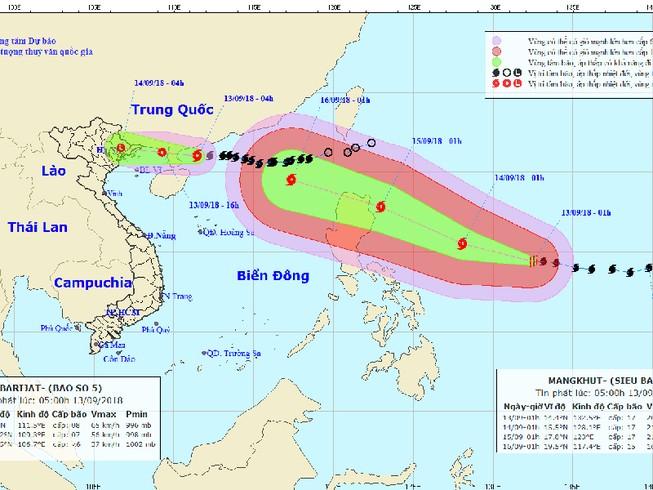 Siêu bão Mangkhut nhiều khả năng ảnh hưởng trực tiếp Việt Nam