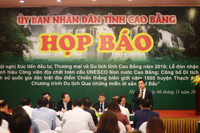 Cao Bằng nhận danh hiệu Công viên địa chất toàn cầu tháng 11