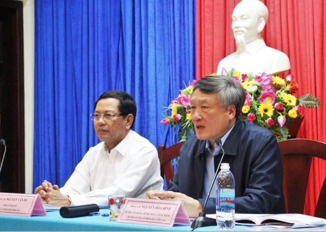 Chánh án Nguyễn Hòa Bình làm việc với TAND Cấp cao tại Đà Nẵng