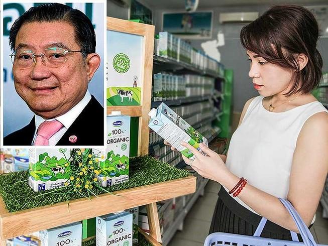 Vinamilk đang nắm giữ thị phần sữa lớn nhất tại Việt Nam. Ảnh nhỏ:  Tỉ phú người Thái Lan gốc Hoa Charoen Sirivadhanabhakdi. Ảnh: TL