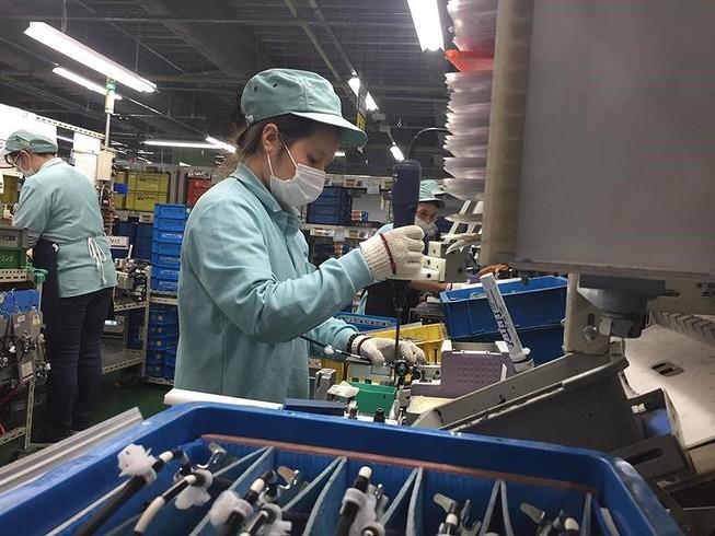 Thực tập sinh kĩ năng Việt Nam đang làm việc tại các nhà máy ở Nhật. Ảnh: P. ĐIỀN