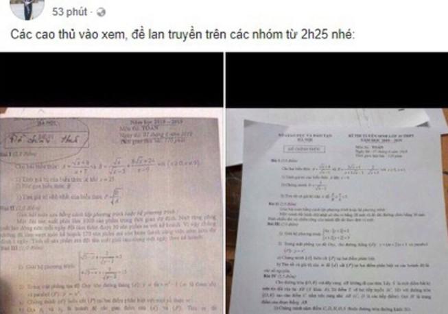 Tạm giữ thầy giáo để lọt đề văn, toán ra ngoài