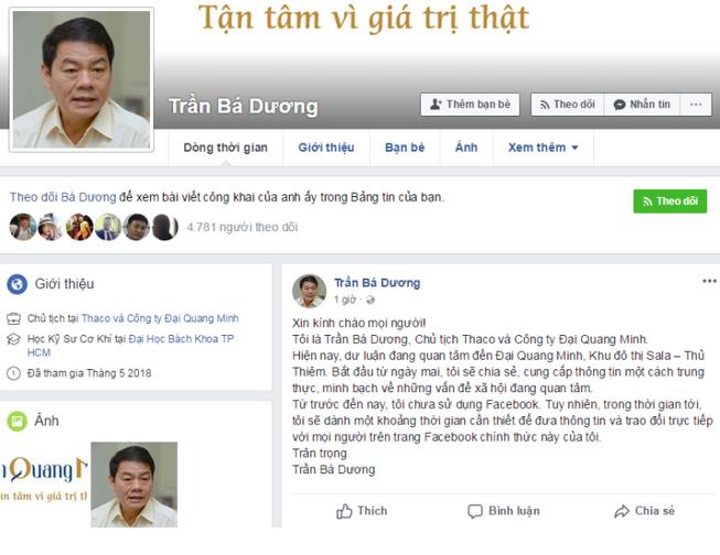 Facebook Trần Bá Dương bị đánh sập: Đại Quang Minh nói gì?