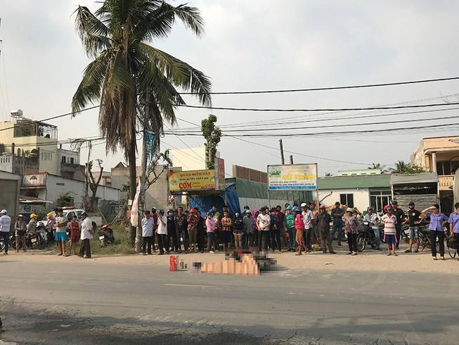 Container lại cán chết người trên đường Nguyễn Duy Trinh