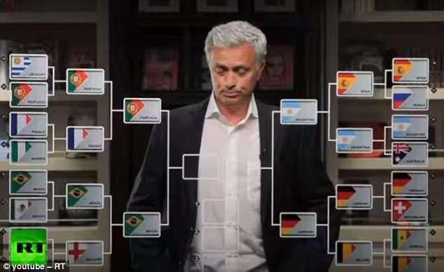 Mourinho trổ tài dự đoán 2 cặp bán kết World Cup 2018