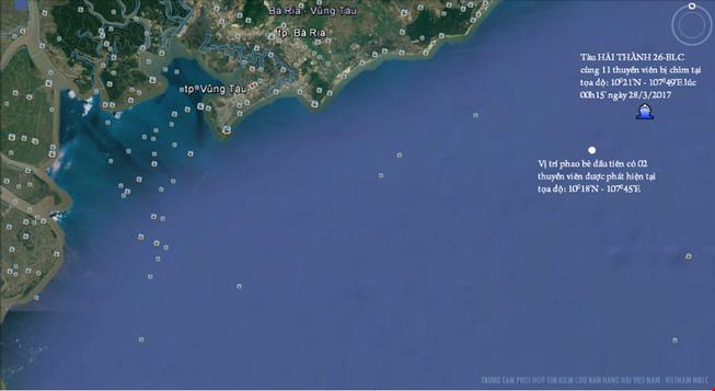 Tìm thấy thi thể thuyền viên tàu Hải Thành 26