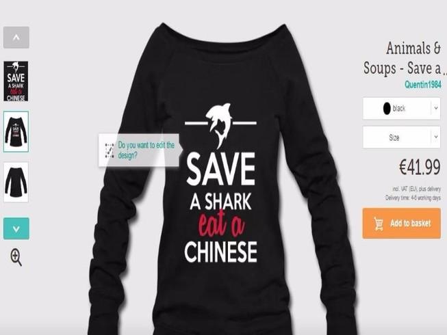 Trung Quốc giận dữ vì mẫu áo xúc phạm của công ty Đức