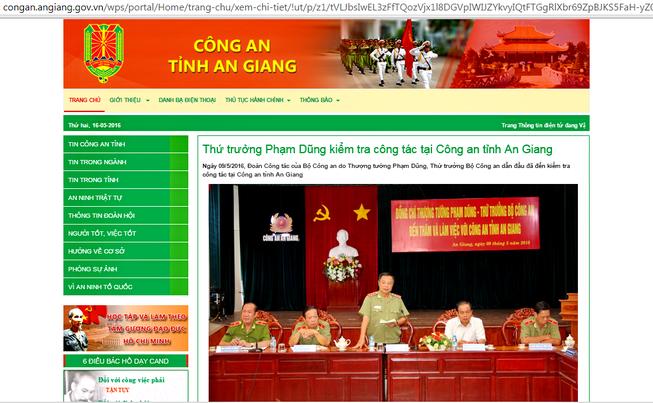 Ra mắt Cổng thông tin điện tử Công an tỉnh An Giang