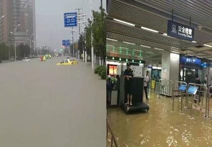 Ảnh: 'Biển nước' nhấn chìm hệ thống tàu điện ngầm Trung Quốc