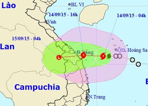 Chiều nay, bão số 3 áp sát ven bờ Đà Nẵng - Quảng Ngãi