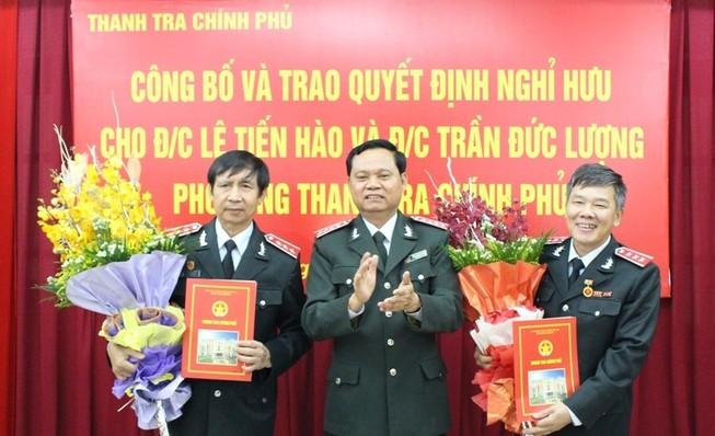 Hai phó tổng Thanh tra Chính phủ nghỉ hưu