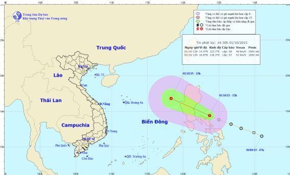 Áp thấp nhiệt đới đang tiến vào biển Đông