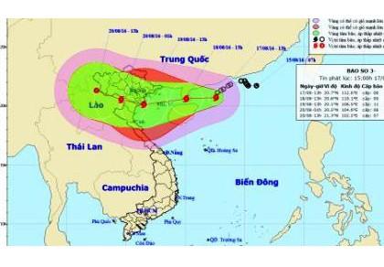 Bão Thần sét đổ bộ vào Việt Nam gây mưa diện rộng, giật cấp 14