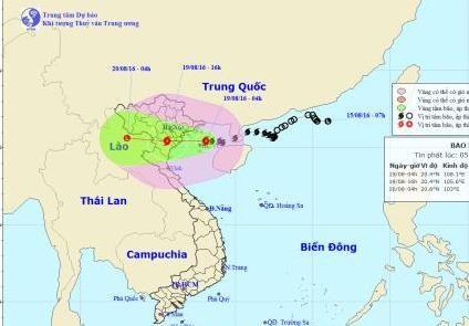 Bão Thần Sét giật cấp 13 áp sát các tỉnh ven biển Bắc Bộ