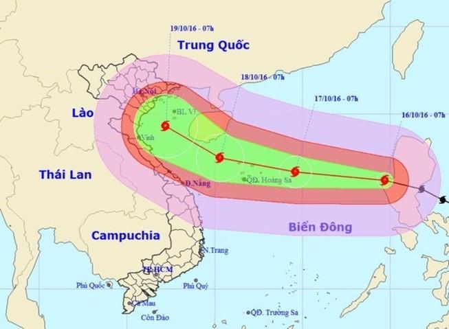 Bão Sarika cấp 17 ảnh hưởng từ Nha Trang tới Quảng Ninh
