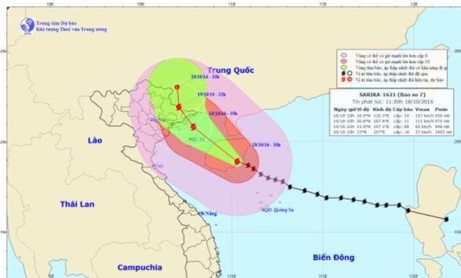 Bão số 7 gió giật cấp 8-9 ở khu vực đảo Bạch Long Vĩ