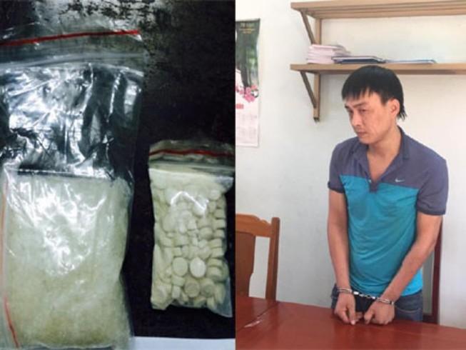 Chuyển ma túy bằng xe taxi bị CSGT bắt giữ