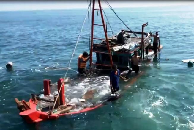 Làm rõ vụ va chạm giữa tàu kiểm ngư và tàu của ngư dân