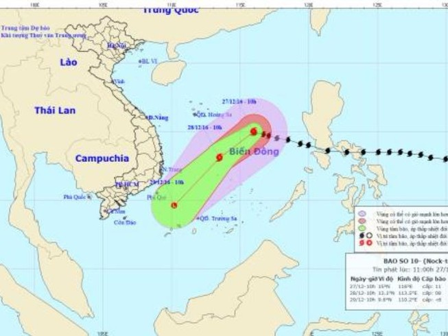 Bão Nock Ten vào biển Đông, báo động thiên tai cấp độ 3
