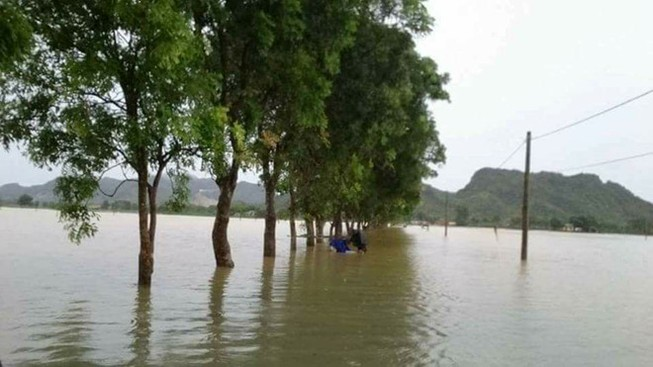 700 phạm nhân ở trại giam Thanh Hóa bị lũ cô lập