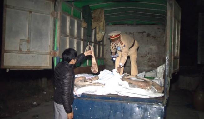 Bắt giữ xe tải chở 6 tấn xương thối ra Hà Nội tiêu thụ