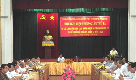 Một người tự ứng cử ở Nghệ An vào danh sách ứng cử viên đại biểu Quốc hội