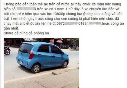Vụ bắt cóc ở chợ Con Cuông là tin đồn thất thiệt